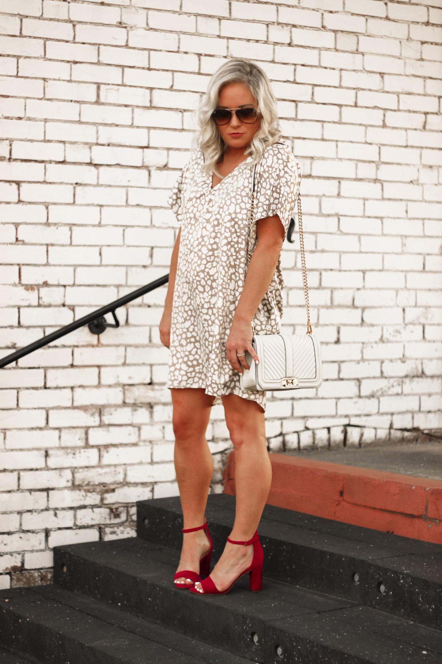 leopard satin tunic