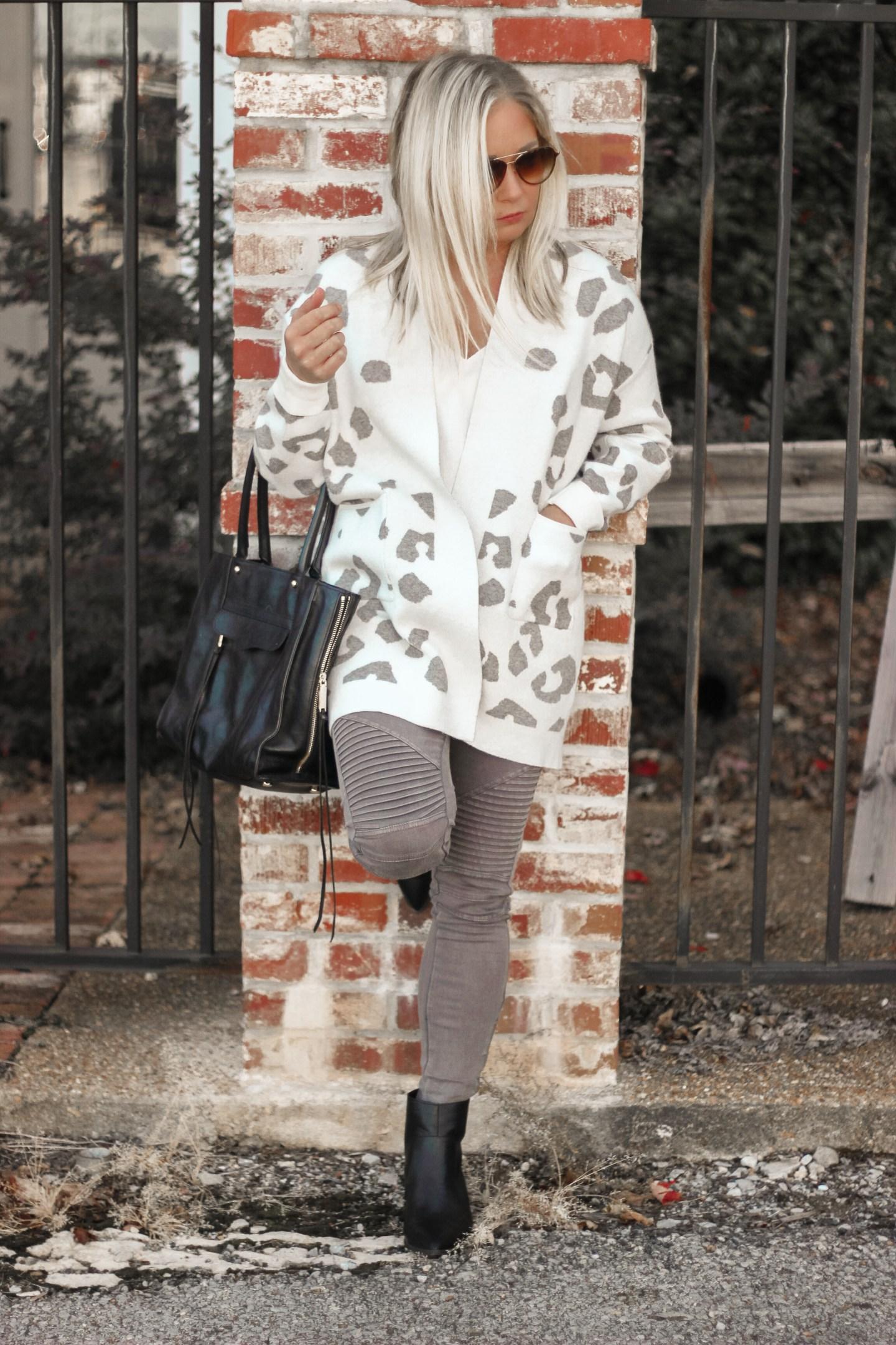 leopard print amazon cardigan