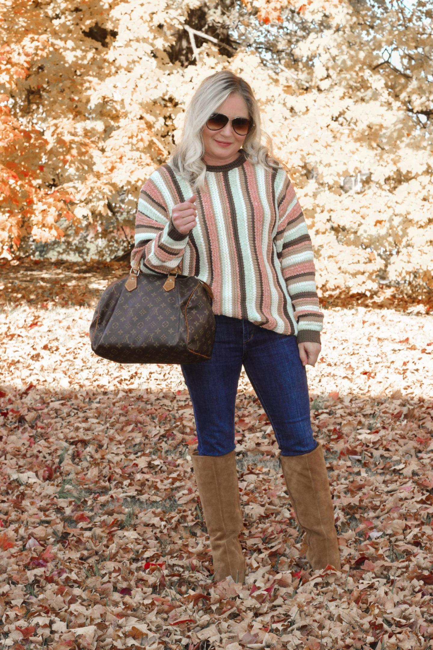 mint julep striped sweater
