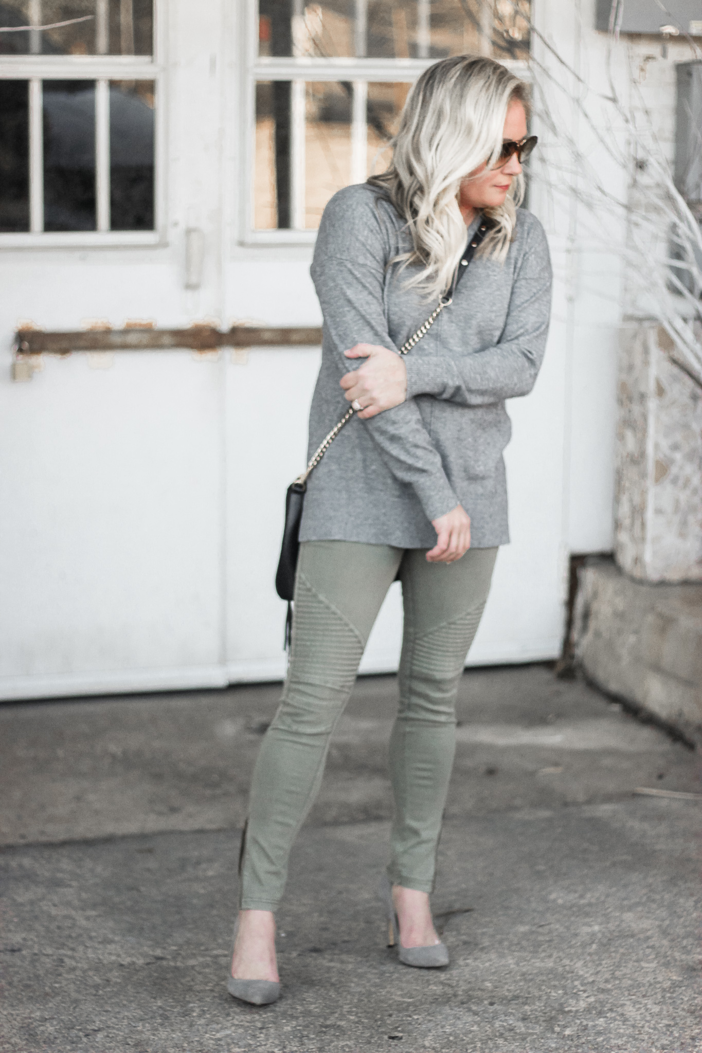 grey and olive