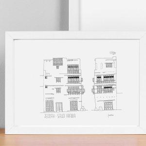 Abu Inabah Lane house art print