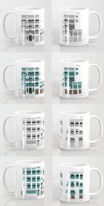 jeddah albalad facade mug collage saudi arabia