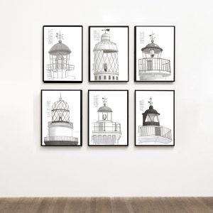 lighthouses prints