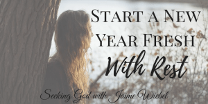 Start Fresh with Rest & Sitting Among Friends #57