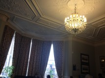 The common room's chandelier.