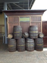 Kegs of Butterbeer. Tasted like butterscotch candy.