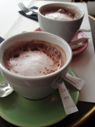 And hot chocolate.