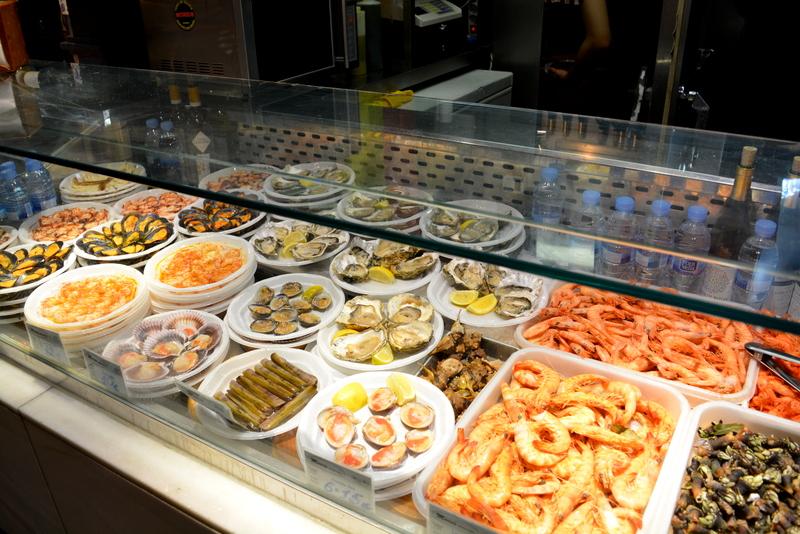 Mercado de San Miguel Madrid Spanje seafood