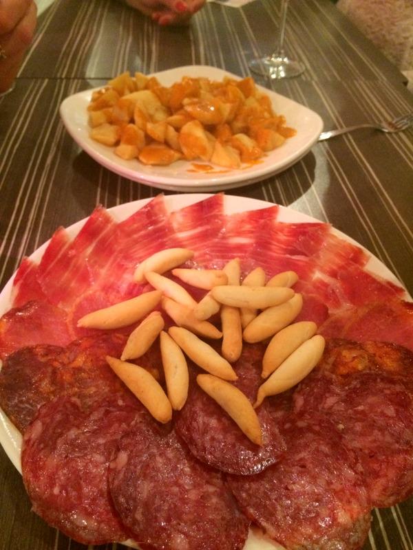 Madrid Jamon Iberico, Lomo, Patatas Bravas