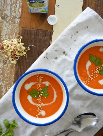 Alpro Paprika Pastinaak soep www.jaimyskitchen.nl