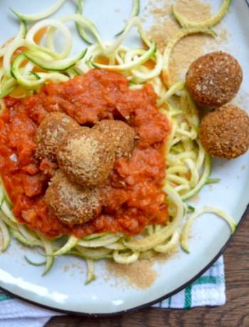 vegan Meatballs Courgetti www.jaimyskitchen.nl
