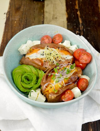 Zoete aardappel gepoft www.jaimyskitchen.nl