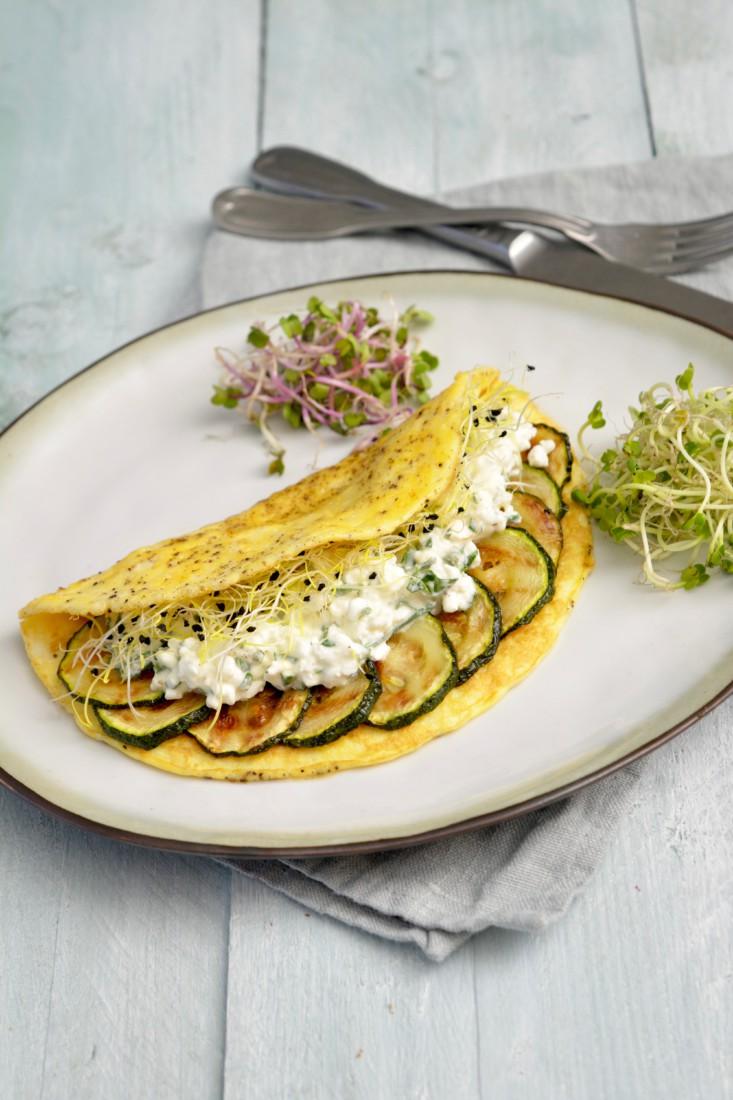 Ei Wrap met Cottage Cheese en Courgette www.jaimyskitchen.nl