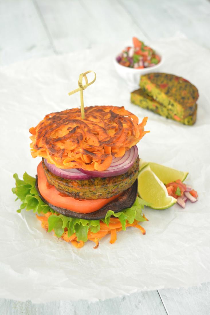 Jackfruit burger met koolsla en BBQ saus | Simone's Kitchen