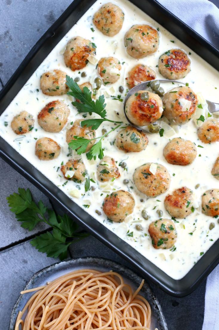 Kip gehaktballetjes in dragonsaus www.jaimyskitchen.nl