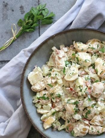 Aardappelsalade met bacon www.jaimyskitchen.nl