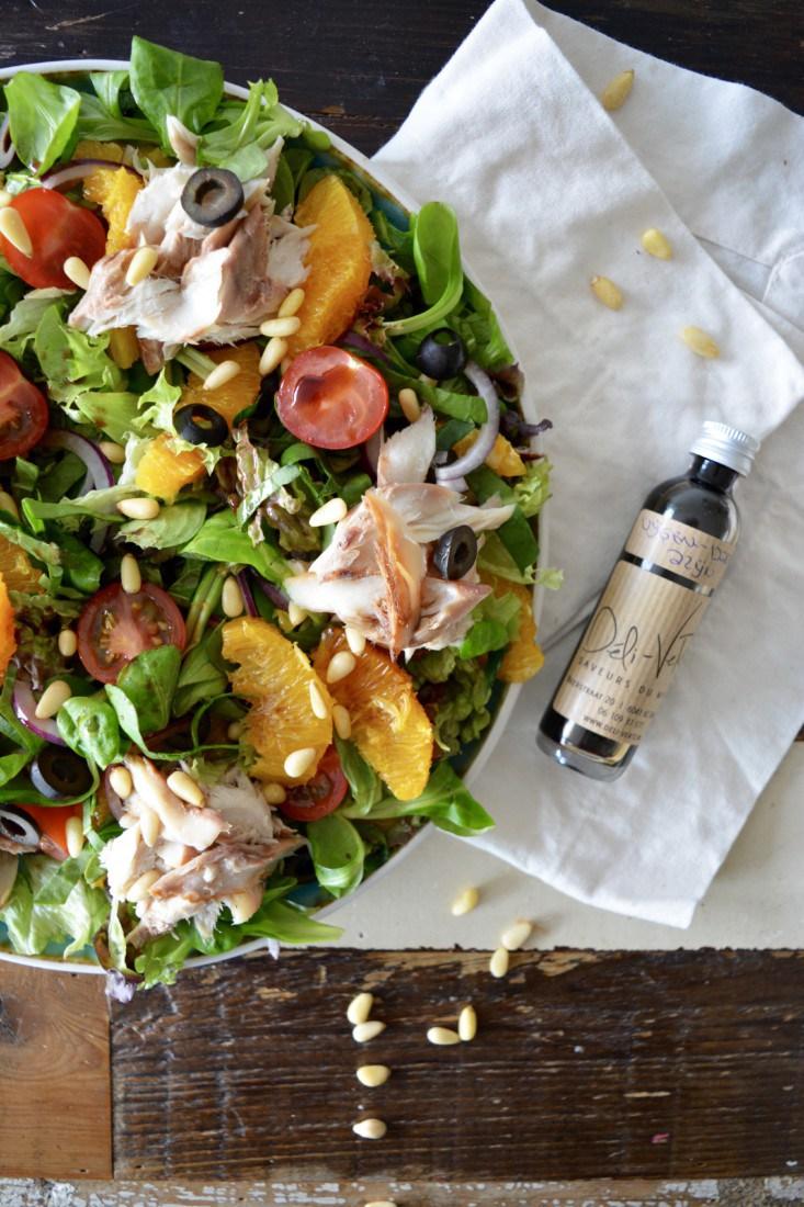Salade met gerookte makreel www.jaimyskitchen.nl