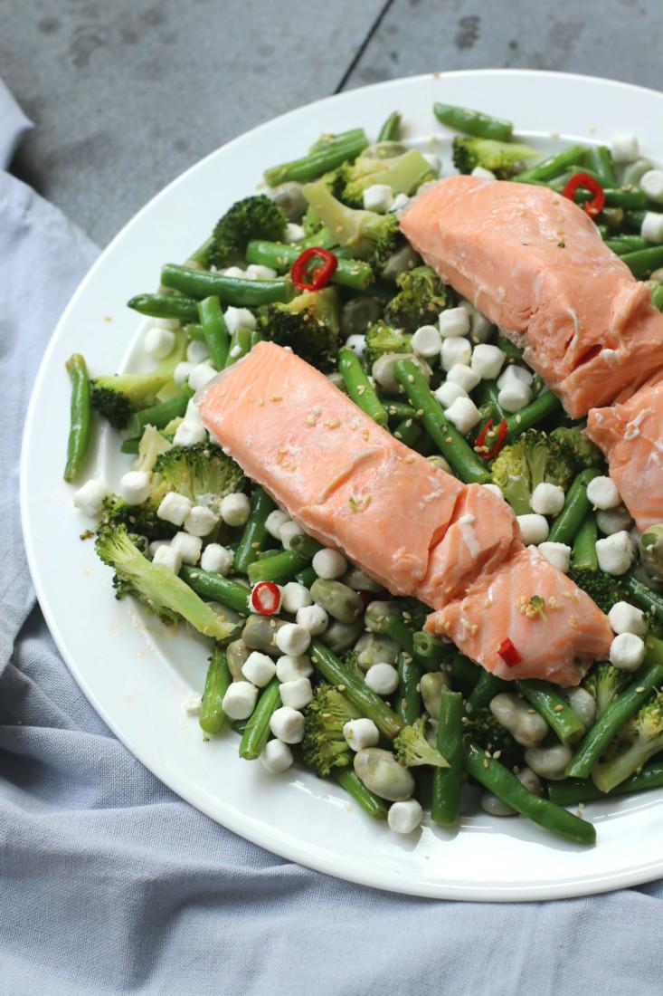 Zalm met groene groenten www.jaimyskitchen.nl