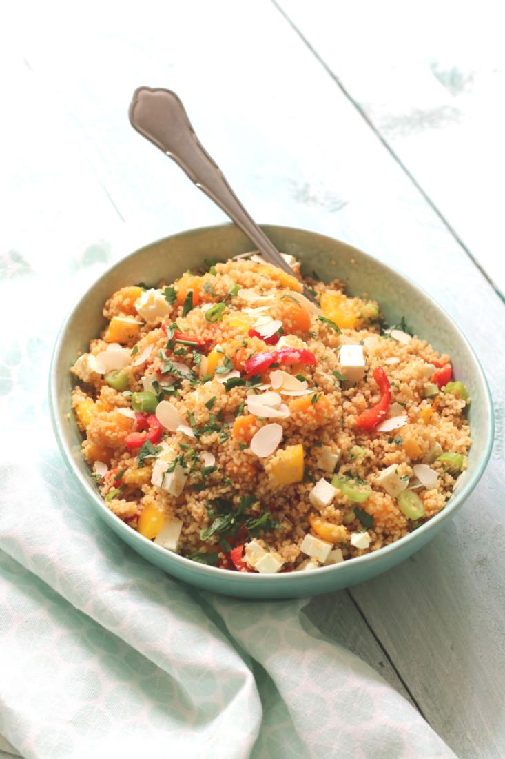 Salade couscous met sinaasappel www.jaimyskitchen.nl