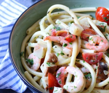 Pasta met garnalen en knolselderij www.jaimyskitchen.nl