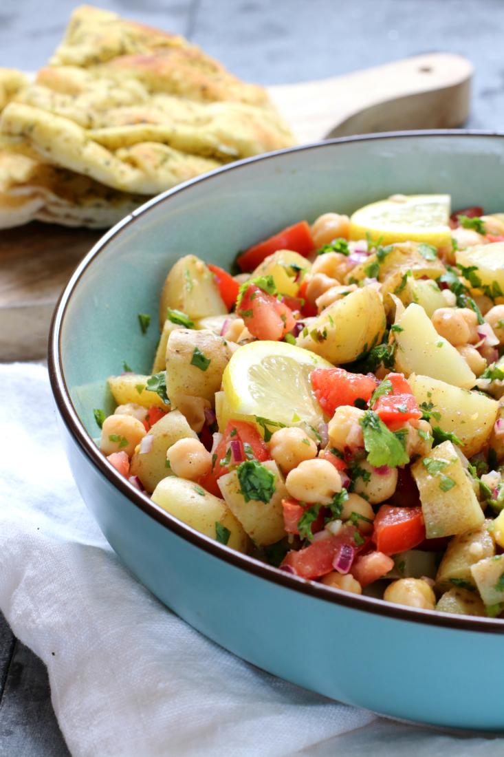 Chana Chaat Indiase kikkererwten salade www.jaimyskitchen.nl