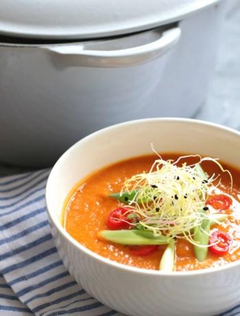 zoete aardappel soep met tomaat www.jaimyskitchen.nl