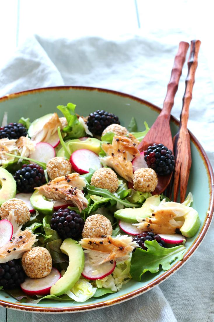 Salade met makreel en bramen www.jaimyskitchen.nl