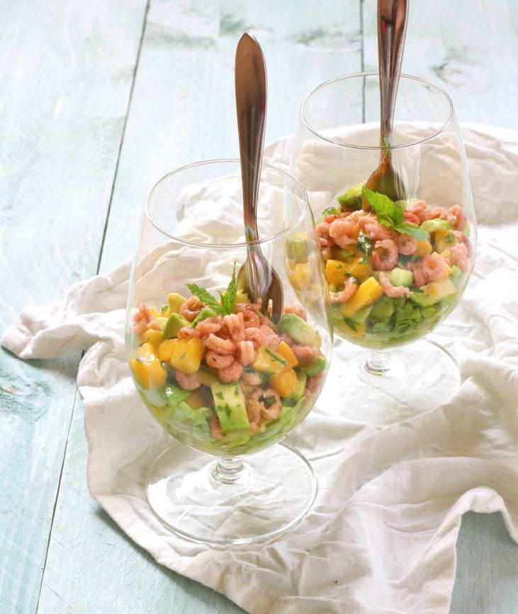 Garnalen cocktail met mango en avocado www.jaimyskitchen.nl