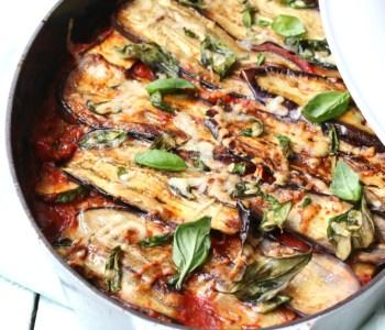 Ovenschotel aubergine Melanzane alla Parmigiana www.jaimyskitchen.nl