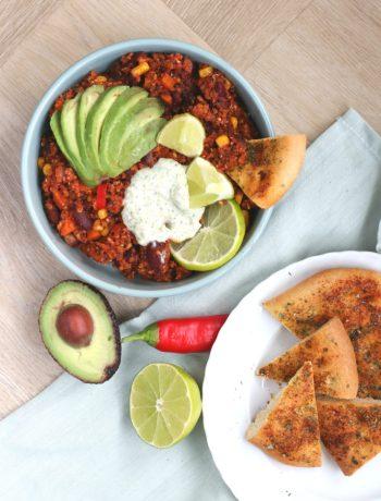 Mexicaanse vegetarische quinoa www.jaimyskitchen.nl