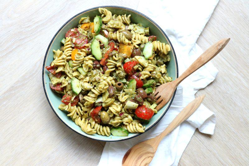 Koude pasta salade Italiaans www.jaimyskitchen.nl