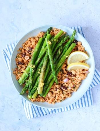 recept couscous met groene asperges www.jaimyskitchen.nl