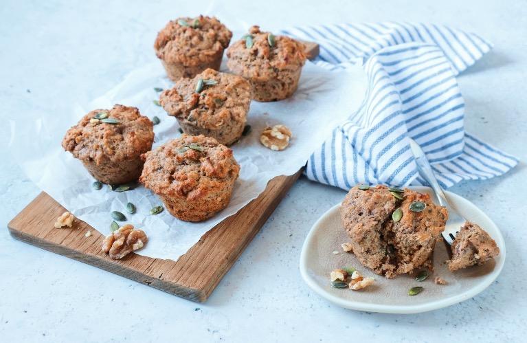 Ontbijtmuffins met koffie en noten www.jaimyskitchen.nl