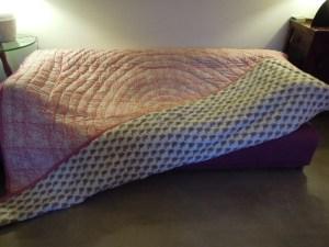 Couverture indienne en coton rose