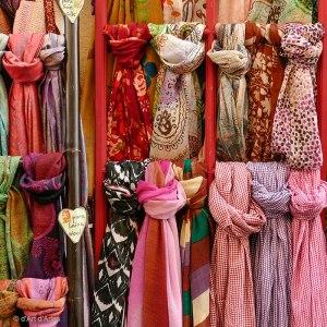 Echarpes en laine et soie
