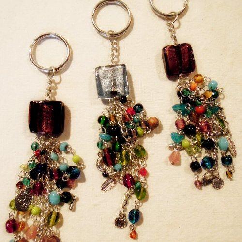 Porte-clés en pâte de verre