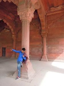 Selfy Indian boy à Redfort - Delhi