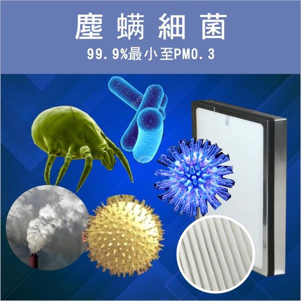 JAIR-350空氣清淨機過濾塵螨細菌灰塵高校及HEPA濾網