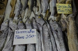Poissons salés - marché de Bangkok