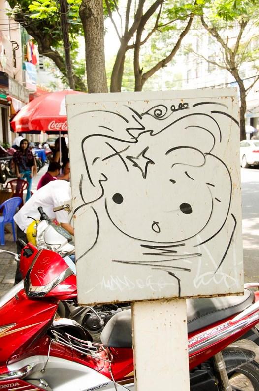 Street Art - Ho Chi MInh -Vietnam - J'ai Une Ouverture - Tour du Monde (17)