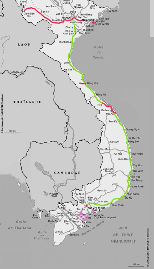Itinéraire conseillé au Vietnam - Notre circuit - Jaiuneouverture