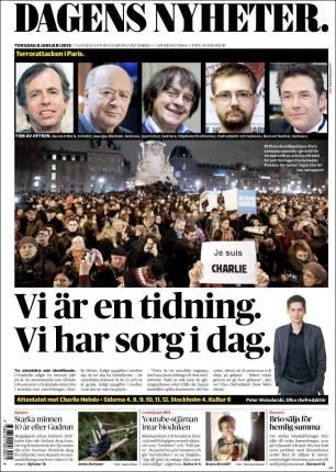 Dagens Nyheter - Suède - Je suis Charlie