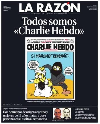 La Razon - Espagne - Madrid - Je suis Charlie
