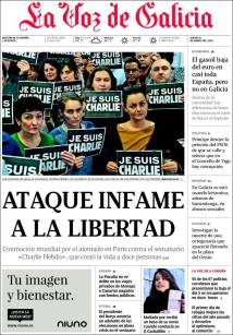 La Voz de Galicia - Galice - Espagne - Je suis Charlie