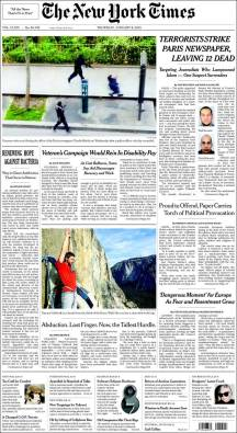 The New York Times - New York - Etats Unis - Je suis Charlie