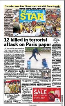 The Philippine Star - Manille - Philippines - Je suis Charlie
