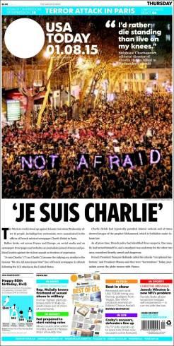 USA Today - Etats Unis - Je suis Charlie