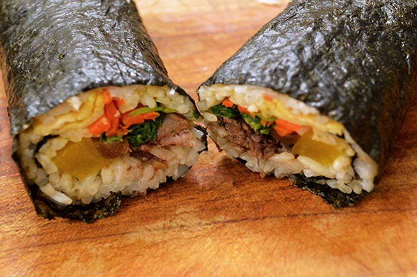 Halfed Kimbap
