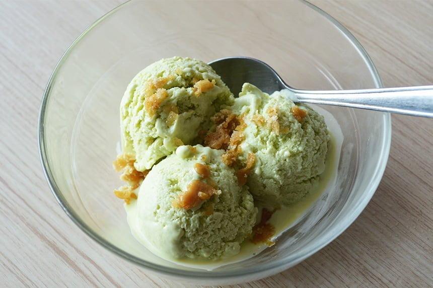 Pandan Coconut Ice Cream