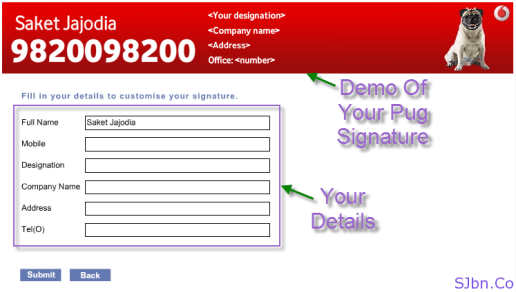 Vodafone Pug Signature